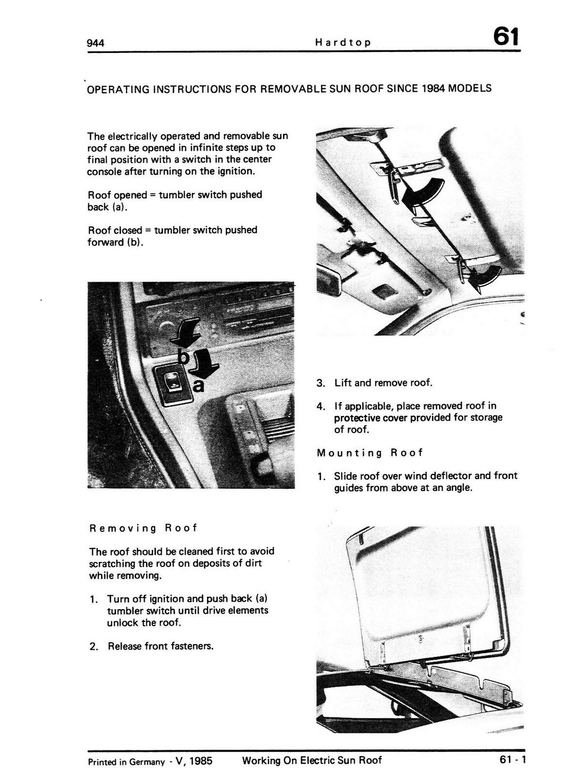porsche 944 sunroof wiring diagram guitar pickup diagrams dimarzio service manual 1988 switch repair